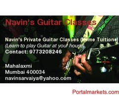 Guitar Classes - Home Tuitions