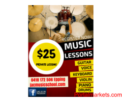 $25 private music lessons