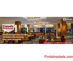Required Hotel Staff and General Helper in Canada