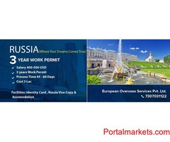 Russia 3 Years Work Permit