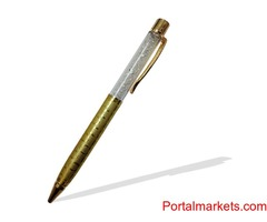 24k Gold Plated  – Crystal Pen, Show Piece and Business Card Holder – Combo Corporate Set-II