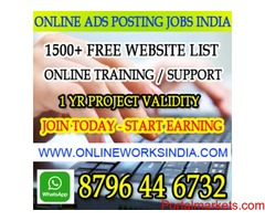 Ad posting jobs India online ad posting jobs in India Earn 25000 pm