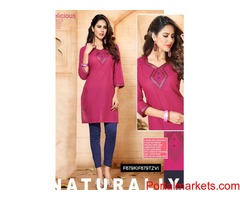 Topaz Lovely Long Plain Kurti For Girl