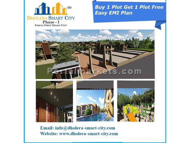 Book Plot no.74 & Get Plot no.75 Free In Dholera Smart City - 1/1