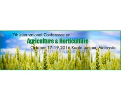 7th Global Summit on Agriculture & Horticulture