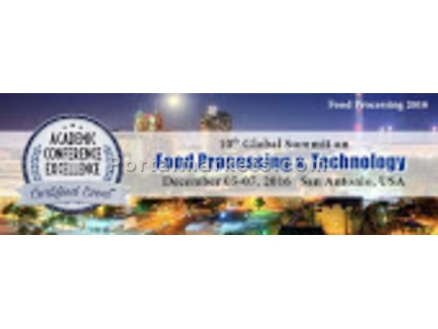 10th Global Summit On Food Processing & TEchnology - 1/1
