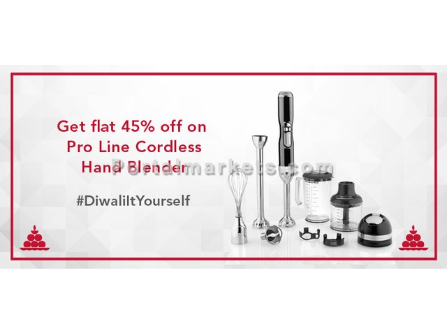 Diwali Offers 2016: Get attractive discount on 5-Speed Cordless Hand Blender - 1/1