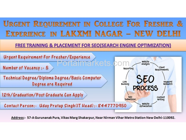 FREE TRAINING & PLACEMENT FOR SEO(Search Engine Optimization) - 1/1