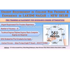 FREE TRAINING & PLACEMENT FOR SEO(Search Engine Optimization)