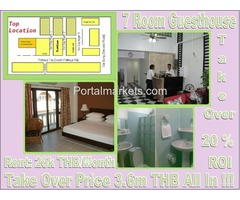 Pattaya 7 Rooms Guesthouse  with Shop Take  Over