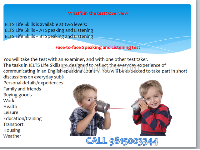 ielts life skills test centre in dehli - 1/4