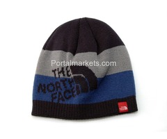 The North Face Ski Beanie Hat - Blue Striped