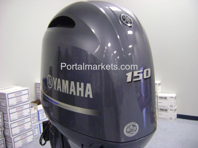 "YAMAHA OUTBOARD F150LB  4 STROKE 20"" SHAFT WITH JUST UNDER 5 HOURS - 1/1"