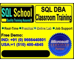 Real Time Project Oriented Classroom Training on Microsoft SQL Server DBA 2014 and 2016 @ SQL School