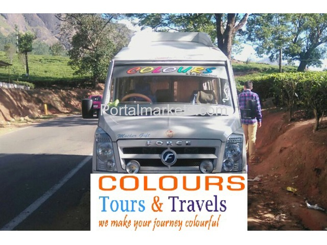 Tempo Traveller for Rent in Bangalore call: 99725 52550 / 94801 92550 Mr.Ravi www.colourstravels.com - 1/2