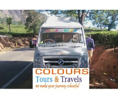 Tempo Traveller for Rent in Bangalore call: 99725 52550 / 94801 92550 Mr.Ravi www.colourstravels.com