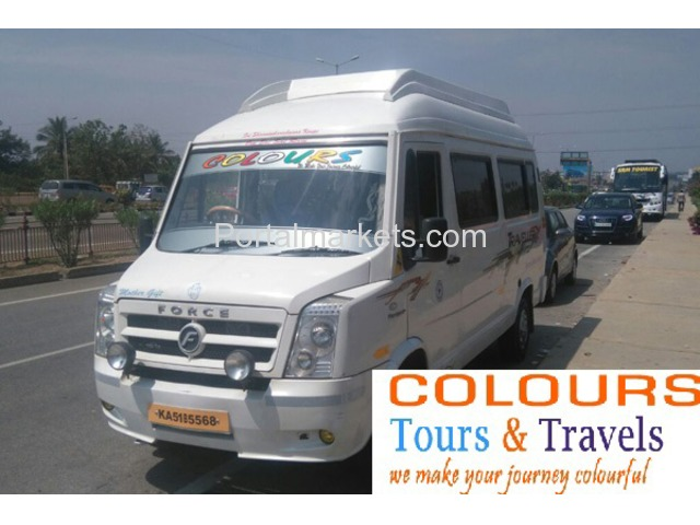 Tempo Traveller for Rent in Bangalore call: 99725 52550 / 94801 92550 Mr.Ravi www.colourstravels.com - 2/2