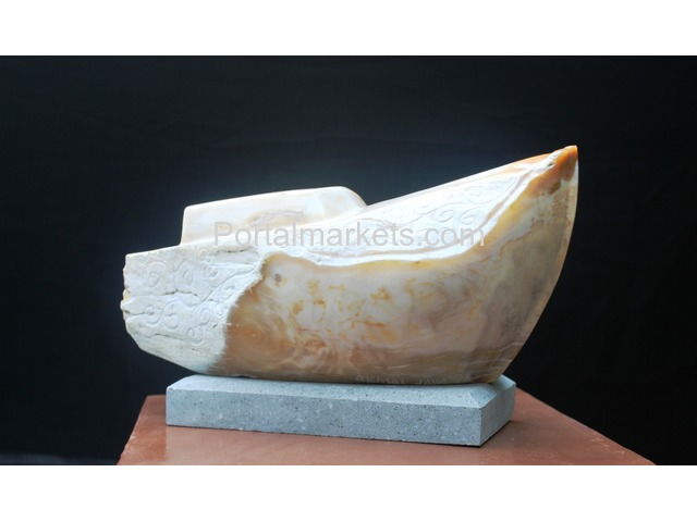 Indonesia petrified wood sculpture - 1/3