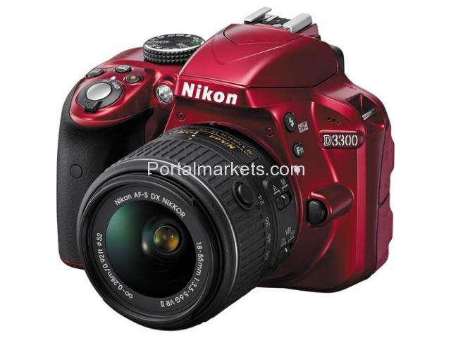 Nikon D3300 DSLR Camera with 18-55mm Lens (Red) - 2/3