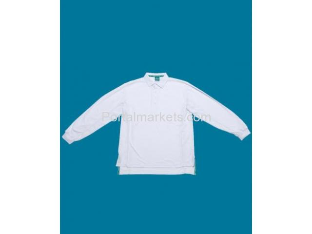 Embroidered Polos Perth - Long Sleeve Cool Cricket Polos - Sportswear - 1/2