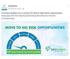 oxyloans is a revolutionary fintech platform. we encourage peer to peer lending and borrowing