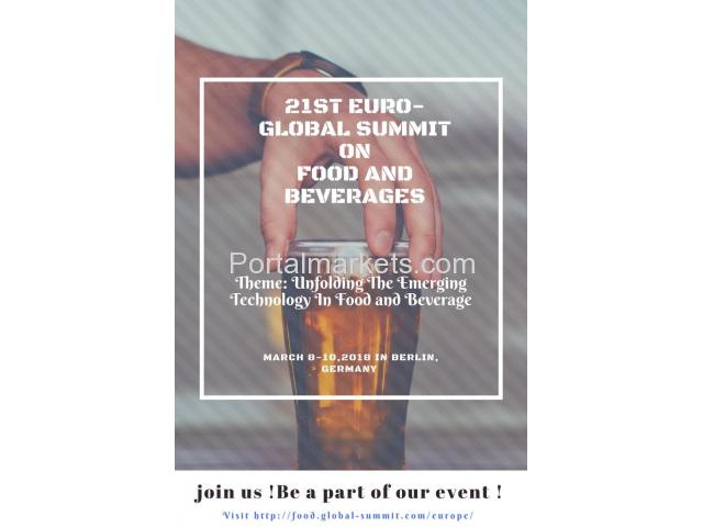 21st Euro-Global Summit on Food and Beverages - 1/1