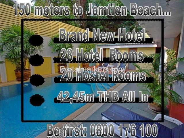 Jomtien Brand New 28 Room Boutique Pool Hotel Sale - 1/4