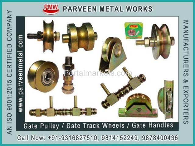 Gate Pulley / Gate Track Wheels and Fancy Gate Square Handles - 1/4