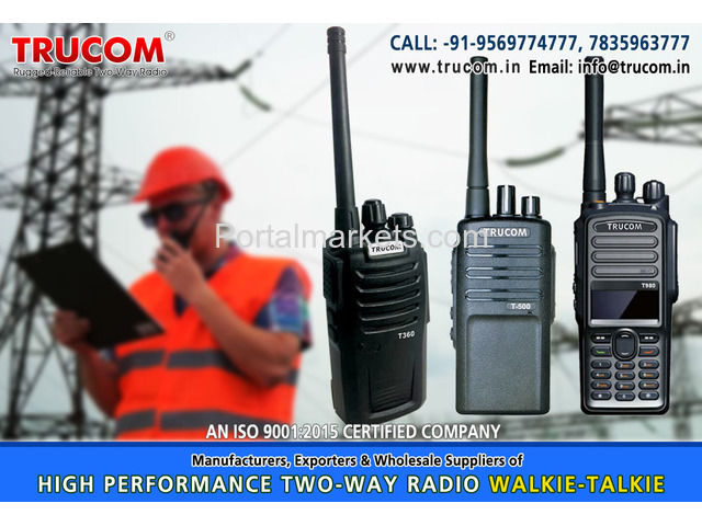 High Quality Long High range walkie talkie radio in India - 1/4