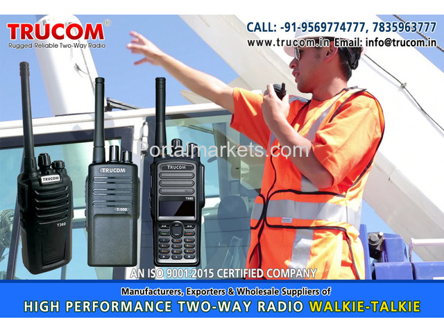 High Quality Long High range walkie talkie radio in India - 3/4