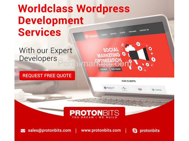 Low Cost Wordpress Development Service at Protonbits - 1/3