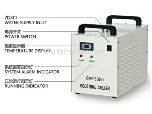 S&A water-cooled chiller CW-3000 AC220V, 50Hz for co2 laser or CNC spindle - 3/3