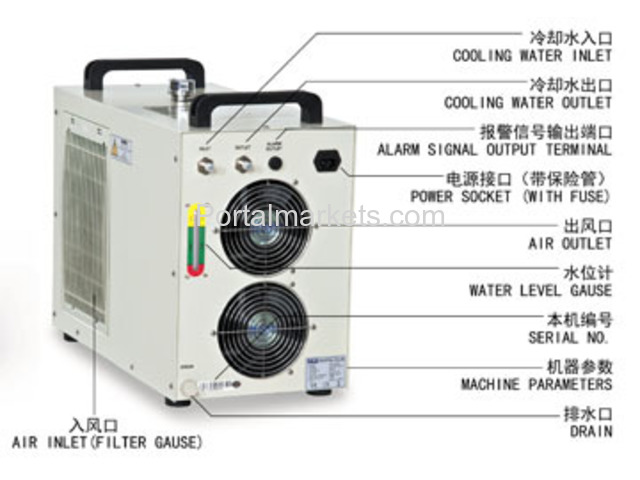 S&A industrial water chiller CW-5000 manufacturer for co2 laser - 2/3