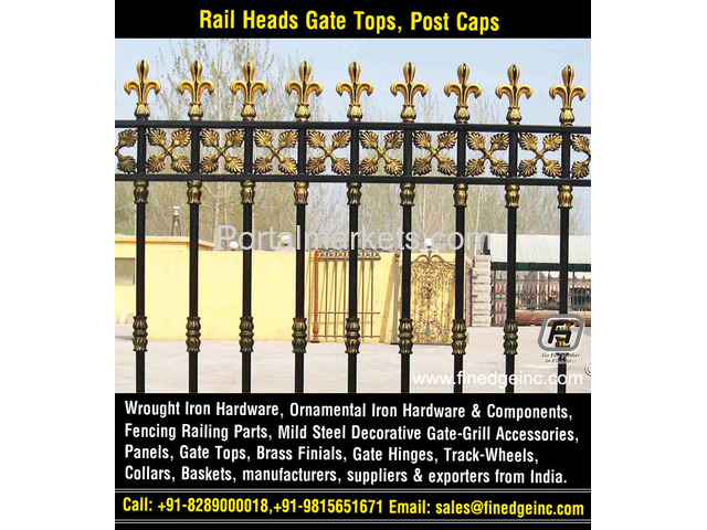wrought iron hardware for gates manufacturers exporters suppliers India - 3/4