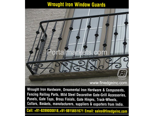 ornamental iron gates hardware accessories parts manufacturers exporters suppliers India - 2/4