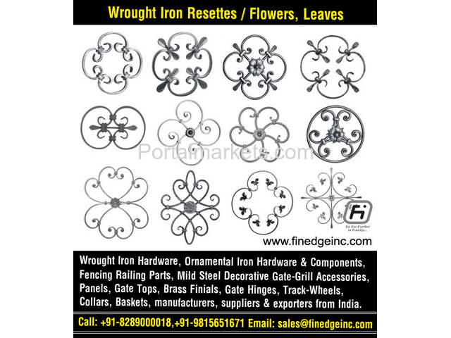 decorative wrought iron fence hardware manufacturers exporters suppliers India - 4/4