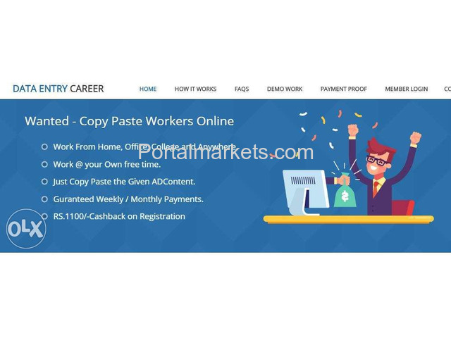 Online Jobs | Part Time Jobs | Home Based Online jobs | Data Entry Jobs Without Investment. - 1/1