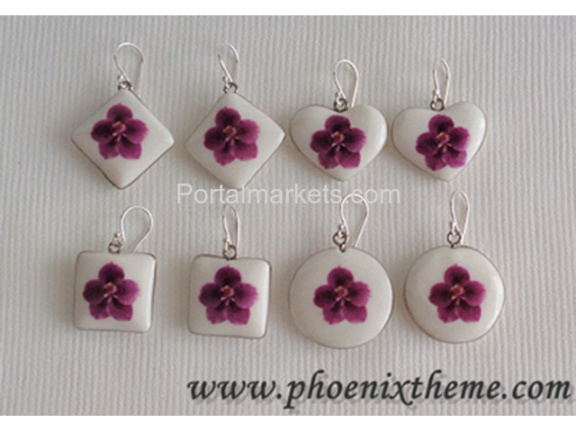 Ceramic Jewelry - Pendant, Bangle, Bracelet & Earrings - 1/4