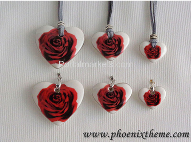 Ceramic Jewelry - Pendant, Bangle, Bracelet & Earrings - 3/4