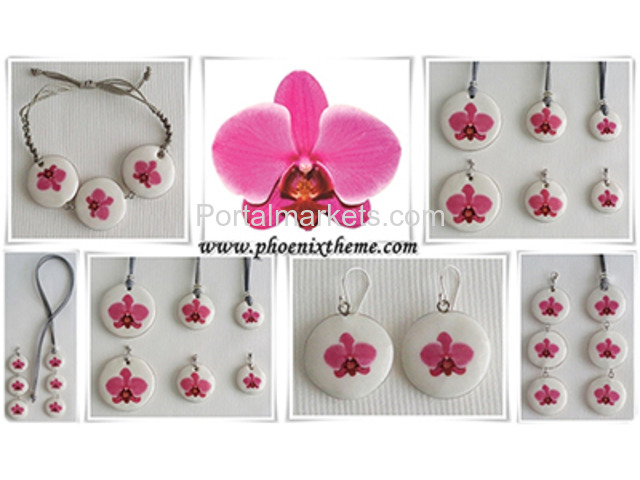 Ceramic Jewelry - Pendant, Bangle, Bracelet & Earrings - 4/4