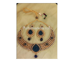 Upto 65% OFF on Royal Blue Color Bridal Jewellery Set