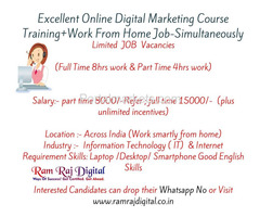 100% job form 1st day online digital marketing training institute