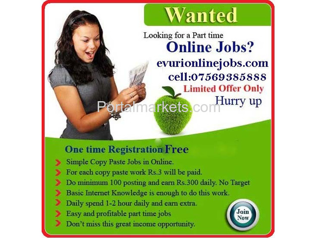 Home Based Data Entry Jobs, Part Time Jobs - 3/4