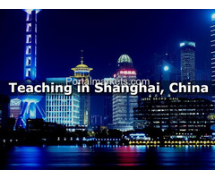 FULL-TIME NATIVE ENGLISH ESL TEACHERS NEEDED IN SHANGHAI CITY, CHINA