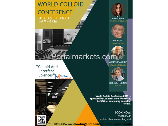World Colloid Conference 2018 - 2/4