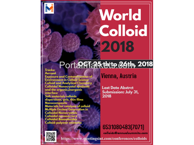 World Colloid Conference 2018 - 4/4