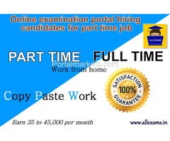 Online Examination Portal Hiring Candidates For Part Time Job