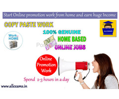 Start Online Promotion Work From Home And Earn Huge Income