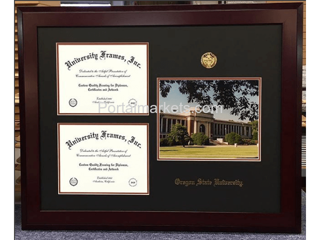 Display Your Academic Achievement with a Custom Diploma Frame - 1/4