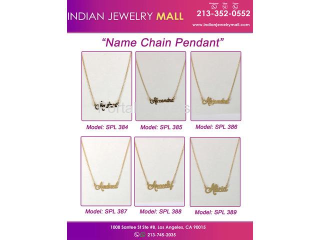 Name chain Pendants - 1/2